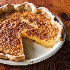 Chess Pie - A store-bought crust helps this custardy confection come together in minutes.