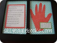 father's day gift idea: handprint keepsake and interview with child. So sweet!