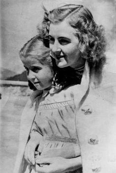 Eva Braun with Hilde Speer at the Berghof