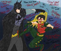 Batman and Robin. Bruce Wayne and Jason Todd.