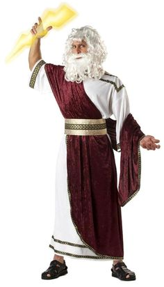 This costume is of zeus and his representation of being the god god of lightning