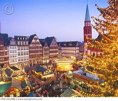 Frankfurt, Germany at Christmas time, it was so festive.