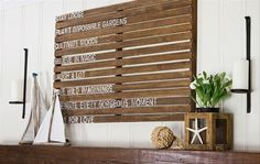 Wall Decor Ideas with Pallets Wood | Pallets Ideas (shared via SlingPic)