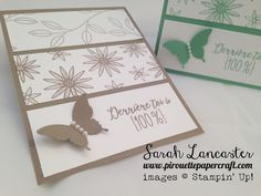 one colour wonder card | full video tutorial - using one stamp set, one ink and card colour and one punch | pirouettepapercraft.com