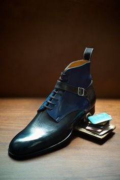 ethandesu: Triple Five The model 555 boot from Saint Crispin's Made to Measure at The Armoury
