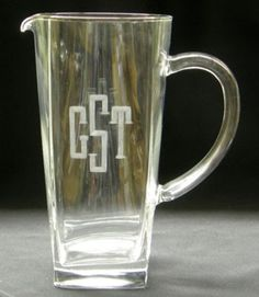 Engraved Personalized All Purpose Square Glass Pitcher ($52.95)