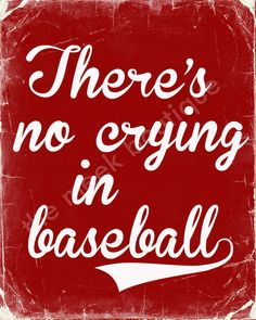 INSTANT DOWNLOAD There's No Crying in Baseball by TheMeekBoutique, $5.00