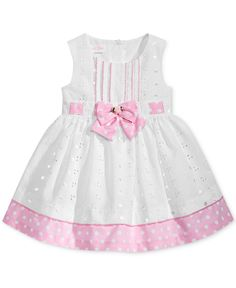 Bonnie Baby Dot-Print Eyelet Dress, Baby Girls (0-24 months) - Dresses - Kids & Baby - Macy's