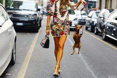 Dolce & Gabbana dress and bag