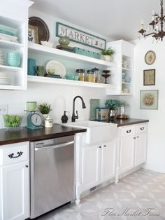 Love the open shelving