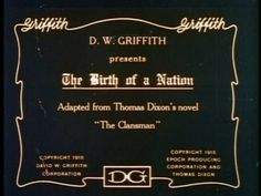 The birth of a nation 1915 movie title