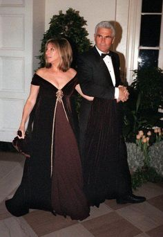 Barbra Streisand and James Brolin at the White House.