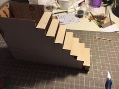 Nature's Soul Miniatures: dollhouse corner stairs