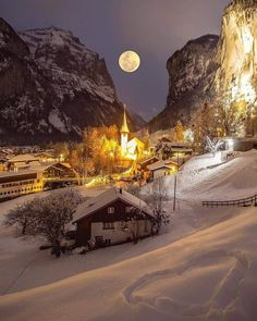 Places To Travel, Travel Destinations, Places To Visit, Beautiful World, Beautiful Places, Beautiful Moon, Wonderful Places, Winter Szenen, Winter Night