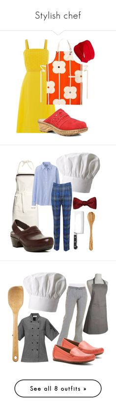 """Stylish chef"" by houseofaracne ❤ liked on Polyvore featuring Dickins & Jones, Orla Kiely, Josef Seibel, Forever 21, Fox Run, H&M, Uniqlo, Band of Outsiders, Dansko and Zwilling J.A. Henckels"