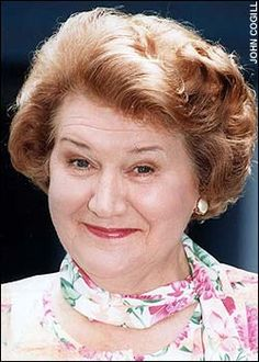 Patricia Routledge (English character actress singer) known for her role as Hyacinth Bucket (referred to as Bouquet) in her British comedy series. British Comedy Series, British Tv Comedies, British Actresses, British Actors, Actors & Actresses, English Comedy, Keeping Up Appearances, Celebrity List, Comedy Tv