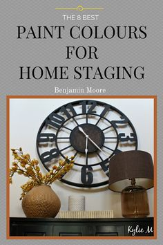 The best Benjamin Moore paint colours for home staging. Neutrals, beige, greige and gray