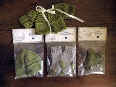 Pour poupée corolle les chéries bonnet écharpe chaussettes gilet vert