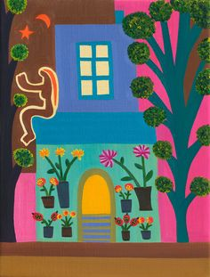 "Cristina Rodriguez ""The Florist In Portobello"" Cristina Rodriguez, International Artist, Portobello, Somerset, Creative Art, Contemporary Art, Kids Rugs, Horses, Fine Art"