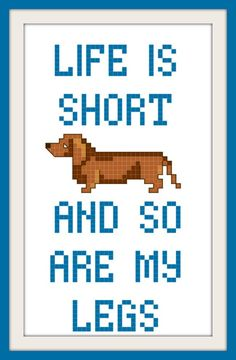 Dachshund Wiener Dog Funny Cross Stitch Pattern by scifistitches, $3.00