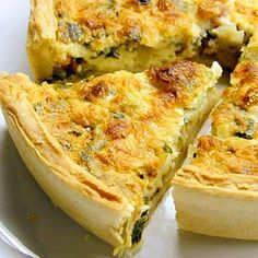 Quiche Florentine with mushrooms