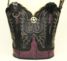 Re-purposed Western Cowboy Boot Purse  -  #14039 by BarefootCowboyNM on Etsy https://www.etsy.com/listing/248430569/re-purposed-western-cowboy-boot-purse