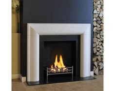 Arlington Limestone Fireplace