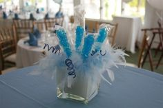 Baby Shower Centerpieces For Boys Center Pieces Candy Bars 63 Ideas Birthday Candy, Frozen Birthday Party, Frozen Party, Girl Birthday, Birthday Parties, Candy Centerpieces, Baby Shower Centerpieces, Quinceanera Centerpieces, Centerpiece Ideas