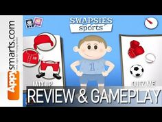 Swapsies Sports - Kids Matching Puzzle Game With Football, Basketball, and Baseball Outfits - YouTube