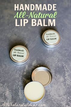 It's quick and easy to make your own all natural handmade lip balm. It saves money too! Use essential oils for added scent or add natural flavoring.