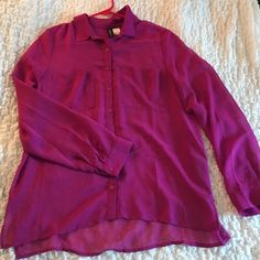 Sheer Purple Blouse H&M Divided Sheer Purple Blouse. Great Condition. H&M Tops Blouses