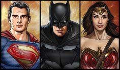 batman vs superman gif - trinity of batman v superman by Hamlet Roman