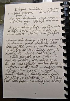 Ginger cookie recipe from cades cove