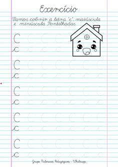 Blog Educação e Transformação: 👍Caligrafia: alfabeto e números Literacy Worksheets, Math Literacy, Teaching Cursive, Dinosaurs Preschool, Christmas Math, Tracing Letters, Calligraphy Handwriting, Hand Lettering, Homeschool