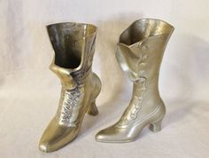 Pair of Vintage Brass Victorian Boots by CrypticVintage on Etsy                                                                                                                                                                                 More