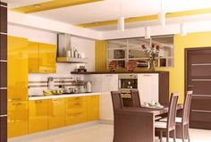 Cool Yellow Kitchen Yellow Kitchen And Modern Kitchen Cabinet Design Ideas By Way Of An Application Of Attractive Concept Of Design Creation In Your Home Kitchen 38 Kitchen Kitchen Design Ideas Gallery. Small Kitchen Design Pictures Ideas. Kitchen Island Design Ideas. | offthewookie.com