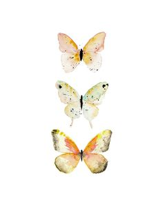 Watercolor Butterfly Print. Nursery Decor. Girls Nursery Art.