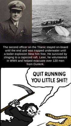 Charles Lightoller (From the Titanic to World War Crazy Funny Memes, Really Funny Memes, Stupid Funny Memes, Funny Laugh, Wtf Funny, Funny Relatable Memes, Funny Cute, Hilarious, Funny Humor