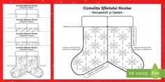 * NEW * Cizmulita Sfantului Nicolae Decupează și lipește Primary Resources, Teaching Resources, New Starter, Dual Language, Interactive Activities, Eyfs, Simple Christmas, Projects To Try, Learning Resources