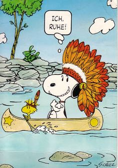 Chief Snoopy hanks you Woodstock for paddling our canoe so well! Snoopy Images, Snoopy Pictures, Peanuts Cartoon, Peanuts Snoopy, Snoopy Cartoon, Peanuts Comics, Peanuts Characters, Cartoon Characters, Peanuts Thanksgiving