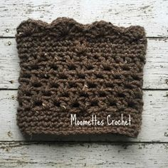 New Handmade Aran Boot Cuffs Brown Tweed Fleck