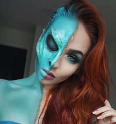 Alien - The Most Hauntingly Gorgeous Halloween Makeup Looks on Instagram - Photos