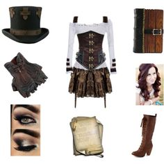 Me in Steampunk by swimchick37 on Polyvore