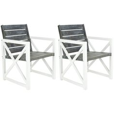 Safavieh 2-Count Acacia Patio Conversation Chairs