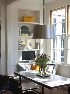 Banquette with Open Shelving LOVE!