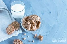 Quick oatmeal cookies without sugar and without flour - Kekse Ideen Oatmeal Cookies, Low Carb Keto, Baby Food Recipes, Cereal, Bakery, Food And Drink, Sweets, Sugar, Snacks