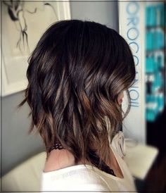 Warm Wavy Lob, click now for more. Medium Hair Styles, Curly Hair Styles, Natural Hair Styles, Light Brown Hair, Dark Hair, Dark Brown, Wavy Lob, Brown Hair With Highlights, Full Highlights