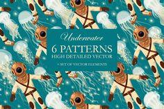 Underwater Seamless Patterns @creativework247