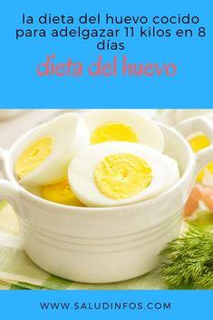 la dieta del huevo cocido para adelgazar 11 kilos en 8 días #dieta #huevo #adelgazar Health Diet, Health Fitness, Beauty Recipe, Healthy Smoothies, Detox, Healthy Eating, Healthy Food, Food And Drink, Healthy Recipes