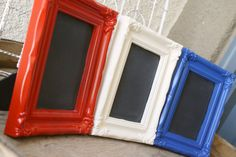 Set Of Red White & Blue Table Top by adiamondinthestuff on Etsy, $35.00